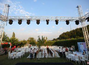 Kır Düğünü Organizasyonu Işık ve Sahne Sistemi Kiralama