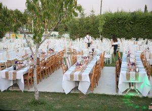 Yaz Düğünü Organizasyonu Masa ve Sandalye Kiralama İzmir
