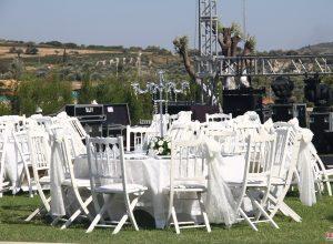 Kır Düğünü Organizasyonu Sandalye Kiralama