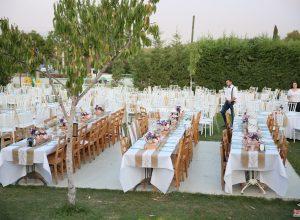 Kır Düğünü Organizasyonu Masa Süsleme