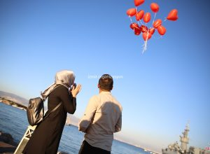 Kordon'da Evlilik Teklifi Organizasyonu Uçan Balon
