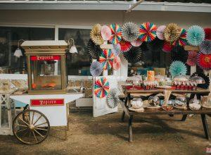 Popcorn Arabası Kiralama Kır Düğünü Organizasyonu