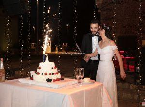 Işık Şelalesi Süsleme ve Pasta Kesme Seremonisi İzmir Organizasyon