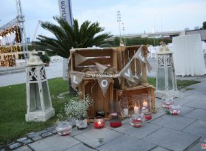 Özel Konseptli Düğün Organizasyonu Cam Fanus ve Denizci Fenerleri Kiralama
