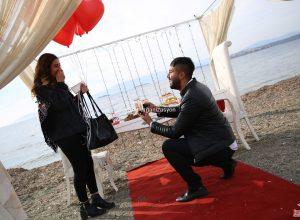 Urla'da Plajda Evlilik Teklifi Organizasyonu