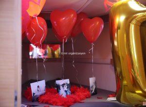 Yatta Evlilik Yıl Dönümü Organizasyonu Uçan Balon Süsleme İzmir