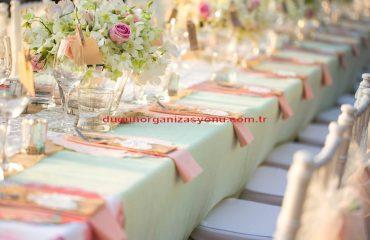 Düğün Masası Dekorasyonu İzmir