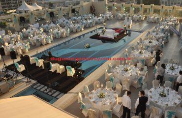 Düğün Organizasyonu Havuza Nikah Masası Kurulumu İzmir Organizasyon