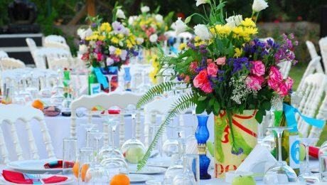 Düğün Organizasyonu Renkli Çiçek Süsleme İzmir Organizasyon